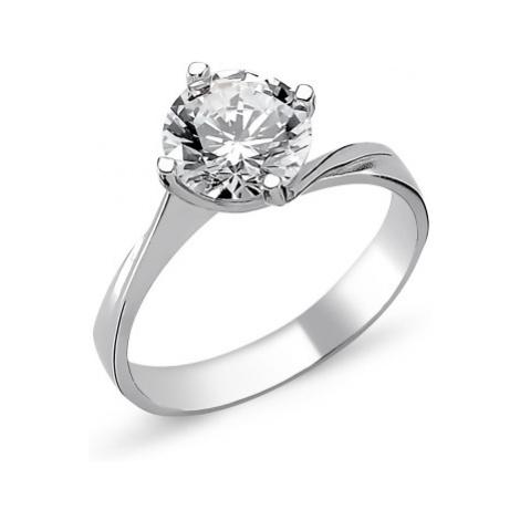 OLIVIE Stříbrný solitérní prsten se zirkonem1265