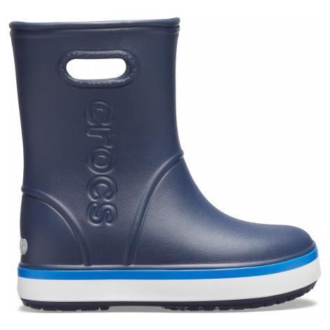 Crocs Crocband Rain Boot K Navy/Bright Cobalt J2