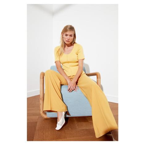 Trendyol Yellow Pool Collar Wick knitwear sweater