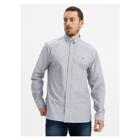 Poplin Košile Tommy Hilfiger Modrá