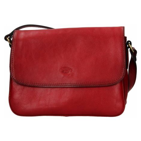 Kožená dámská crosbody kabelka Katana Jarnia - tmavě červená
