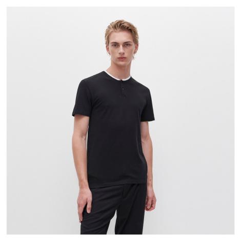 Reserved - Polo tričko se stojáčkem - Černý