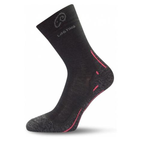 Ponožky Lasting WHI 70% Merino - černé