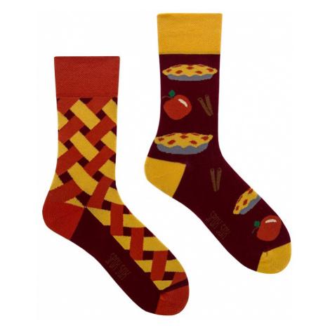 Hnědo-žluté ponožky Apple Pie Spox Sox