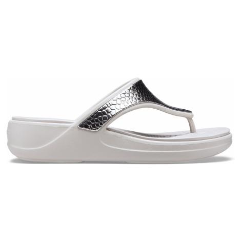 Crocs Crocs Monterey Metllc Wdg Fp W Silver/Platinum W9