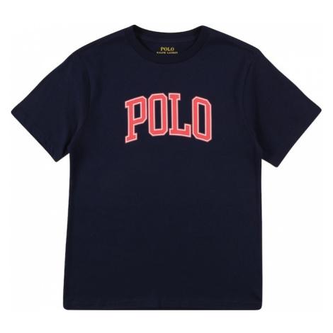Polo Ralph Lauren Tričko námořnická modř / bílá / červená