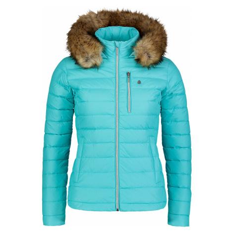 Nordblanc Sway dámská péřová bunda tyrkysová