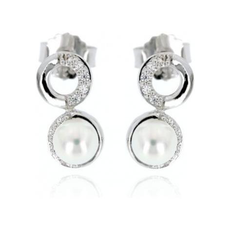Stříbrné dámské náušnice perličky 1113