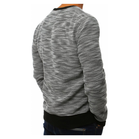 Black and white men's sweatshirt without hood BX4000 DStreet