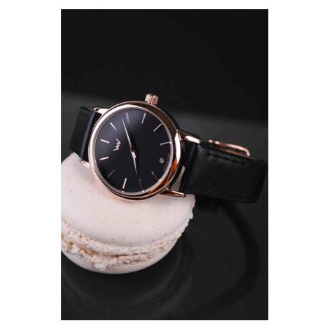 Dámské černé hodinky Rulien VUCH