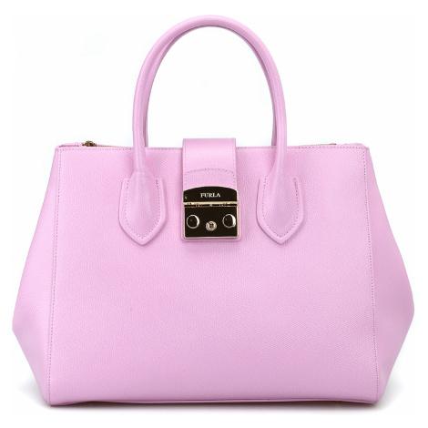 Růžová kožená kabelka - FURLA | Metropolis
