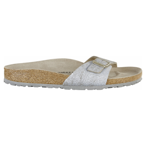 Madrid VL Washed Metallic Blue Silver Birkenstock