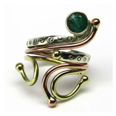 AutorskeSperky.com - Stříbrný prsten se smaragdem - S4697