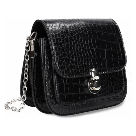 Černá dámská koženková kabelka Baťa