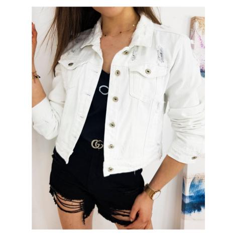 Bílá dámská džínová bunda TY1248 BASIC