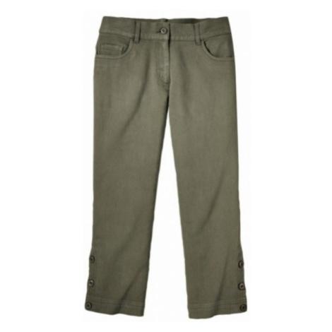 Krátké 3/4 kalhoty khaki