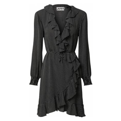 JUST FEMALE Šaty bílá / černá
