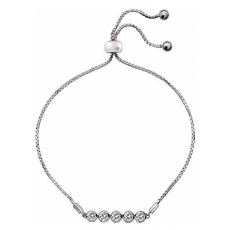 Hot Diamonds Něžný stříbrný náramek s topazy a pravým diamantem Willow DL581