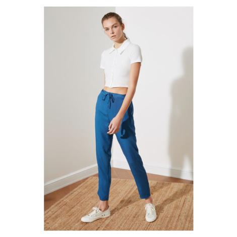 Trendyol Indigo Tying Detail Pants