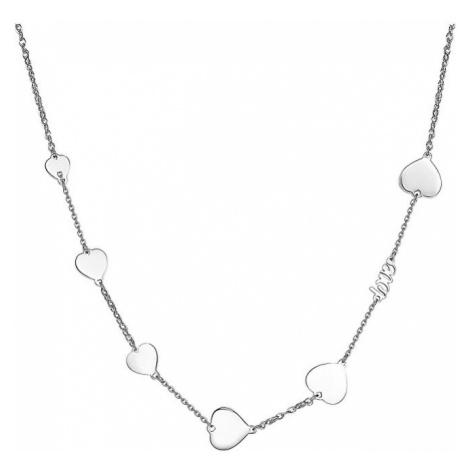 S`Agapõ Ocelový náhrdelník se srdíčky Fancy SFC05
