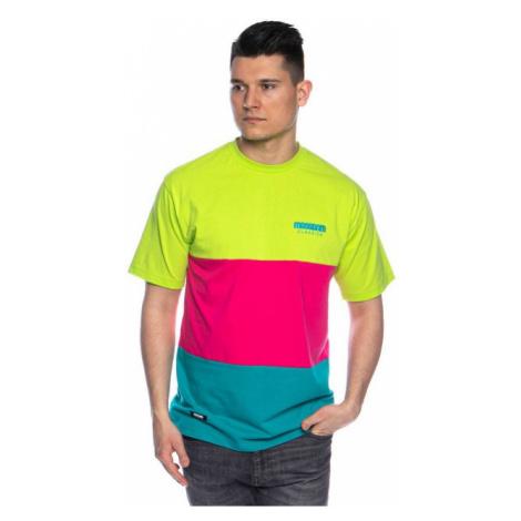 Mass Denim Zone T-shirt mint/magenta/yellow