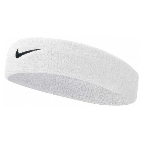 Nike SWOOSH HEADBAND bílá - Čelenka