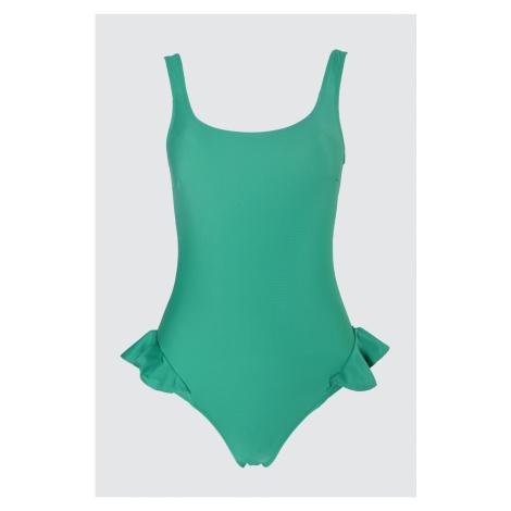 Trendyol Green Ruffly Swimsuit
