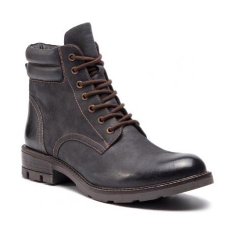 Šněrovací obuv Lasocki WI23-DEMETRA-01BIG Přírodní kůže (useň) - Nubuk