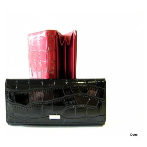 BRIGHT Dámská peněženka kroko lak Černá, 19 x 19 x 9 (BR14-D441-10ST-09KRL)