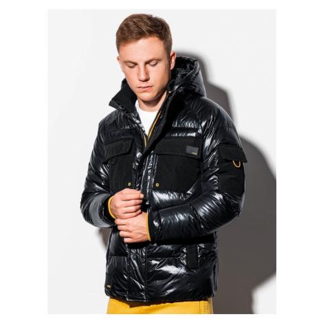 Ombre Clothing Stylová přechodná bunda v černé barvě C457