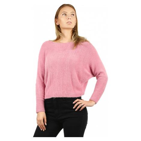 Dámský chlupatý svetr s netopýřími rukávy
