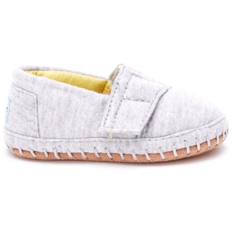Grey Jersey TINY Crib Alpargata Toms