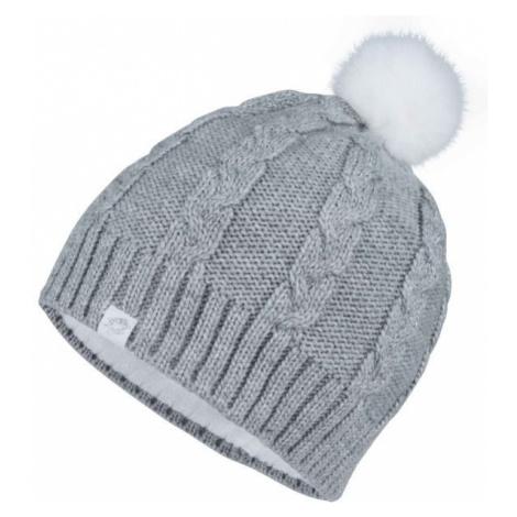 Lotto CORSOLA šedá - Dívčí pletená čepice
