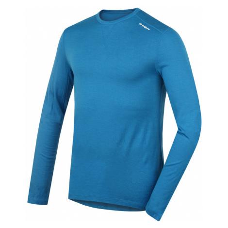 Pánské funkční triko HUSKY Merino 100 M dlouhý rukáv modrá