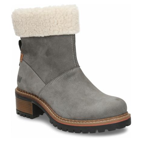 Zimní dámské kožené boty s kožíškem Weinbrenner
