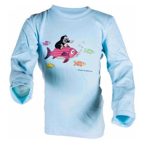 tričko chlapecké KRTEK FISH BLUE, Pidilidi, 2015, světle modrá