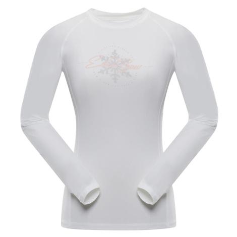 ALPINE PRO TARA Dámské triko s dlouhým rukávem LTSP503000PA bílá