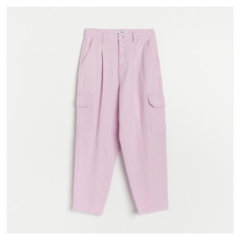 Reserved - Džínové kalhoty cargo - Fialová