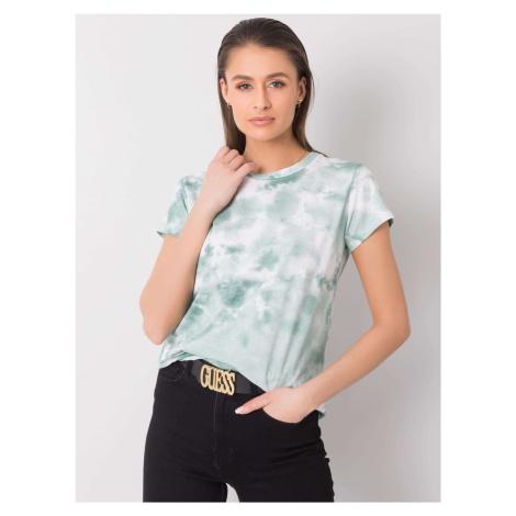 Zelené a bílé tričko s kravatou barvou ONE SIZE FPrice