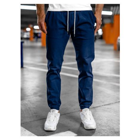 Modré pánské jogger kalhoty Bolf 1145