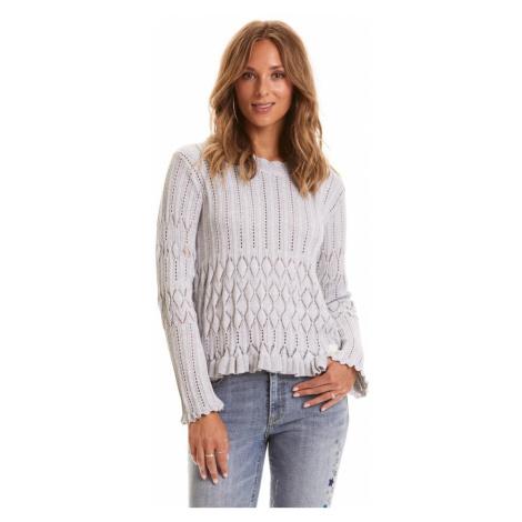 Svetr Odd Molly Pretty On The Loose Sweater - Šedá