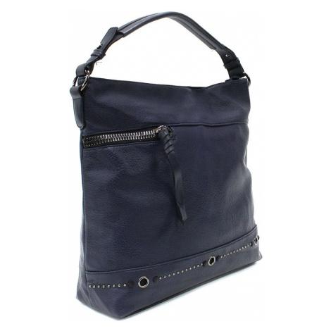 Tmavě modrá moderní dámská zipová kabelka Fantina New Berry
