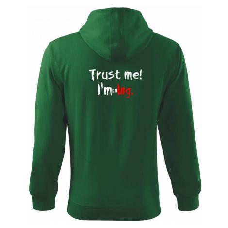 Trust me I´m an Ing. / Věř mi jsem Ing. - Mikina s kapucí na zip trendy zipper