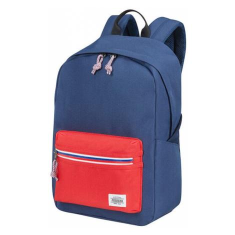 American Tourister Městský batoh Upbeat Zip 19,5 l - modrá/červená