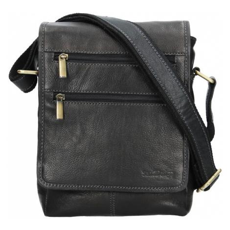 Panská kožená taška přes rameno SendiDesign Maxim - černá Sendi Design