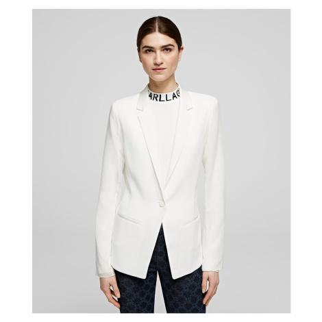 Sako Karl Lagerfeld Blazer W/ Pleated Back - Bílá