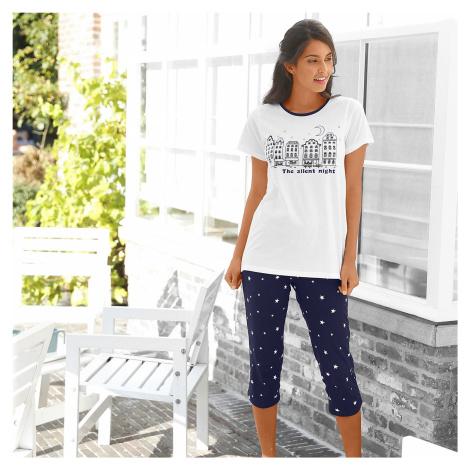 Blancheporte Pyžamo s 3/4 kalhotami, potisk město nám.modrá