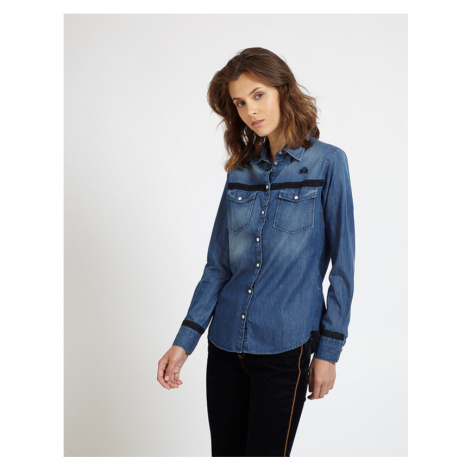 Košile La Martina Woman Shirt Denim - Modrá