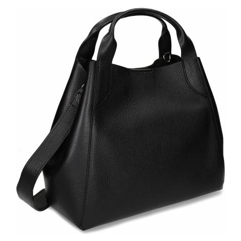 Černá kožená kabelka Baťa