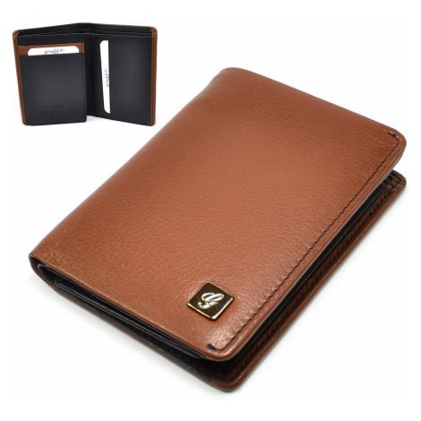 Hnědá kožená pánská peněženka Golunski